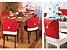 Kit 6 Capas Vermelha Para Cadeira Natal Veludo Papai Noel - Imagem 2