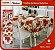 Toalha Quadrada De Mesa Natalina Para 4 Cadeiras 140x140 Cm - Imagem 1