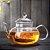 Chaleira Bule De Vidro Chá Infusor Com Tampa Cozinha 540 Ml - Imagem 2