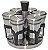 Porta Condimento Inox com suporte giratório  - Imagem 1