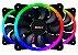 KIT FAN DUPLO LED RGB PARA GABINETE 12X12 - Imagem 2