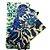 Pano de Cera estampa Olho Grego & Folhagens Azuis {Kit com 3 P/M/G} - Imagem 2