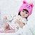 Bebe Reborn Touquinha Rosa, Menina Linda - Imagem 1