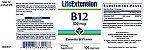 VITAMINA B-12 500 mcg - Life Extension - 100 Pastilhas  (Envio Internacional) - Imagem 2