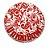 Proteção para Base / Tapete Union Bowl - Branco e Vermelho - Imagem 1