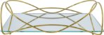 Bandeja Espelhada Isabela 15 X 25 cm Dourada Hara - Imagem 2