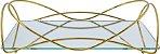 Bandeja Espelhada Isabela 10 X 20 cm Dourada Hara - Imagem 2