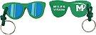 Chaveiro oculos emborrachado personalizado - 100 unidades - Imagem 1