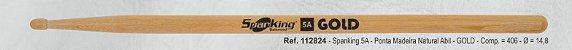 Baqueta Spanking Gold 5A Abiurana  - Imagem 1