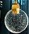 Pendente Sand Metal Dourado e Cristal 11x15cm Bivolt 3W 3000K Skylight SKY-3051DO - Imagem 1
