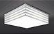 Plafon Amon Quadrado 41x41cm 4x25 W E27 Cor Branco Bellalux 161220 - Imagem 3