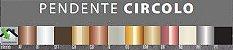 Pendente Circolo Alumínio e Vidro Fosco Leitoso 36x40xø10cm 1xG9 LED Cápsula Itamonte Nac 481 - Imagem 2