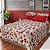 Jogo lençol  floral bordo - Imagem 1