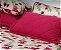 Jogo lençol  floral bordo - Imagem 3