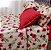 Jogo lençol  floral bordo - Imagem 2