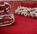 Conjunto lençol floral bordô - Imagem 2