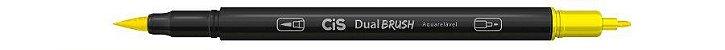 Marcador Dual Brush Aquarelavel 23 Amarelo - Cis - Imagem 1
