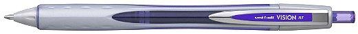 Caneta Retratil 0,8mm Vision Rt Violeta - Uni Ball - Imagem 1