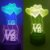 Luminária de Mesa de LED 3D Criativa Love Amor Coração / Luz Noturna Decorativa - Imagem 1