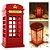 Luminária Abajour Led Cabine Telefônica Londres de Mesa Decorativa Touch - Imagem 4