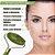 Massageador Facial de Duas Pontas Com Pedras de Jade Naturais Massageador de Rolo Varinha de Massagem Facial - Imagem 3