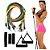 Kit Elásticos Extensores 11 Peças Exercícios Musculação Yoga Crossfit Pilates Fitness Funcional - Imagem 4