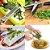 Tesoura Multi Corte 5 Lâminas de Aço Inox Corta e Pica Hortaliças, Temperos, Verduras, Ervas e Saladas de Forma Prática e Segura - Imagem 6