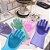 Luva Par Magica Escova Limpeza Silicone Lavar Louça Prato - Imagem 3