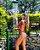 Biquíni - Busto cortininha com bojo | Calcinha fio embutida com amarração lateral - Imagem 2