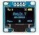 "DISPLAY LCD OLED I2C 0.96"" AZUL COM AMARELO Y/B SSD1306 - Imagem 1"