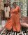 Vestido Longo Manú Goiaba - Imagem 1