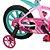 Bicicleta Aro 14 First Pró Freio a Disco Rosa e Verde - Imagem 5