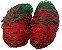 Par Rede Gol Society Suiço 4mts Véu Fio 4mm Caixote Nylon Verde e Vermelho - Imagem 1