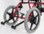 Cadeira de Rodas Linha Postural TPR - VERMELHA - 30 cm - Imagem 2