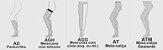 Meia de compressão panturrilha ultraline 4000 20-30 AD curta pé aberto - bege  - Imagem 3