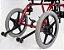 Cadeira de rodas linha postural TPR   - PRETO - 38 CM - Imagem 3