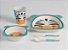 Kit Alimentação 5 Peças, 2 pratos, copo, colher e faca linha Eco Zebra, Girotondo - Imagem 1