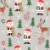 Tecido Tricoline Papai Noel E Rena Cinza 7122-02 - Natal  - Imagem 1