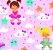Tecido tricoline meninas nuvens estrelas - Imagem 1