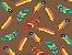 Tecido tricoline penas coloridas - Imagem 1