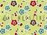 Tecido Tricoline Florzinhas Coloridas - Imagem 1