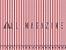Tecido Tricoline Fio Tinto Listras Vermelhas - Imagem 1
