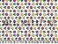 Tecido Tricoline Diamantes Coloridos - Imagem 1