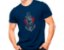 Camiseta Militar Estampada Comandos Anfíbios Azul - Atack - Imagem 1