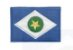 Patch Bordado Com Fecho De Contato Bandeira Mato Grosso - Imagem 1