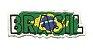 Patch Bordado Com Fecho De Contato Brasil Efeito - Imagem 1
