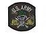 Patch Bordado Com Fecho De Contato U.S. Army - Imagem 1