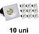 Kit 10 Mini Spot Led 3w Quadrado COB Branco Frio - Imagem 2