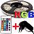 Fita de LED RGB 5050 5m Com Controle Fonte 3A - Imagem 1