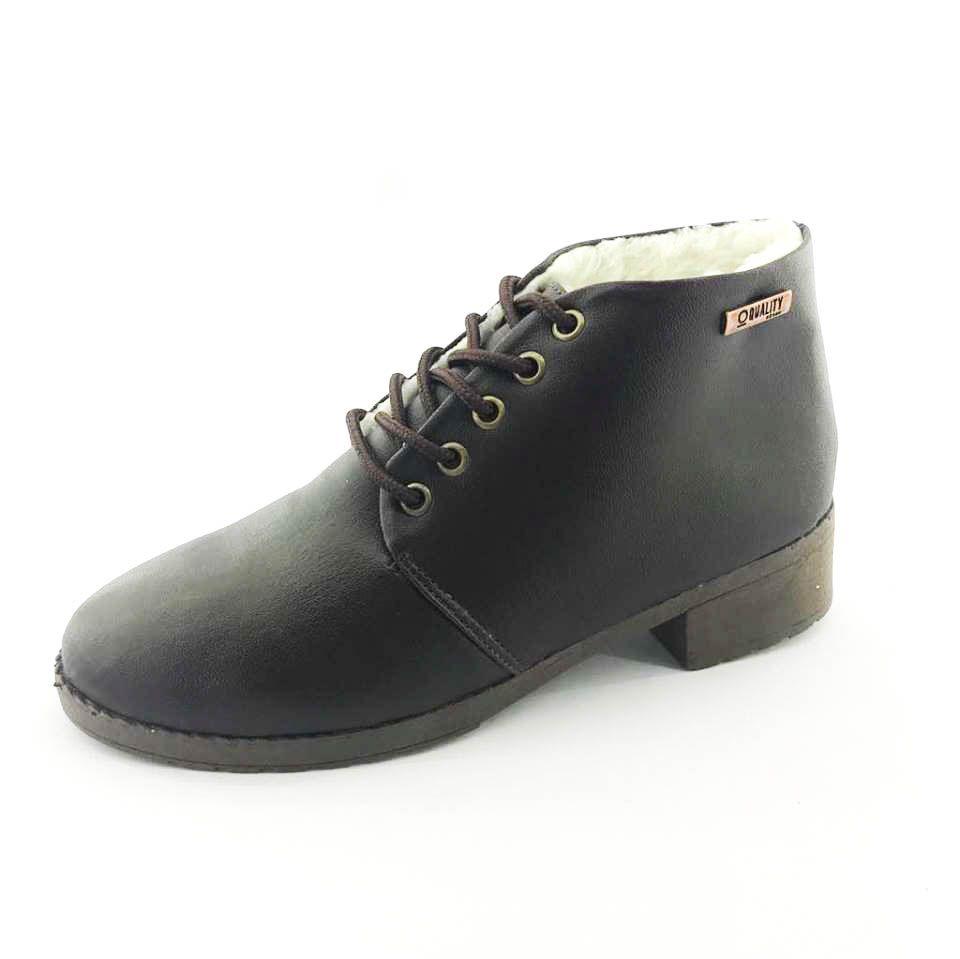 cadd2d184d ... Bota Coturno Forrada em Lã Quality Shoes Feminina Courino Café - Imagem  4